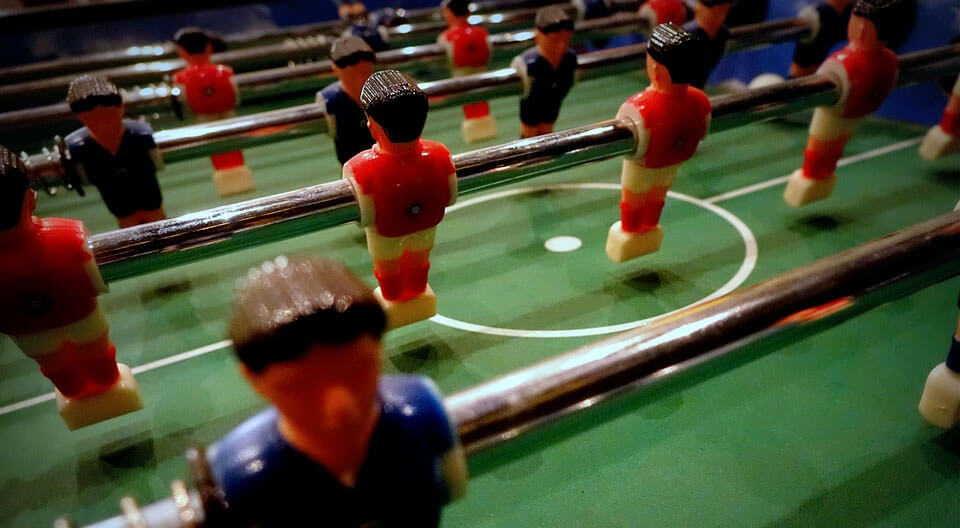 foosball men close up